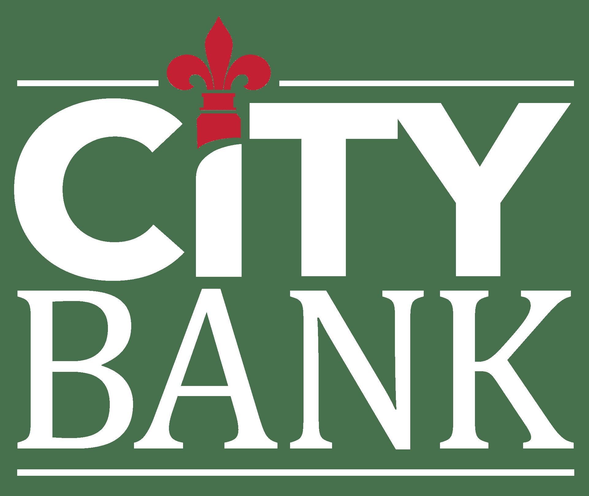 City Bank Logo V Inverse